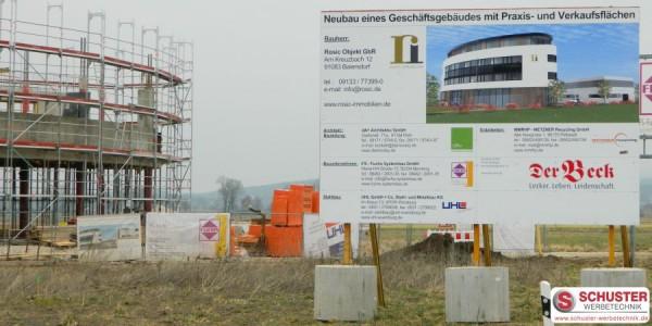 XXL-Digitaldruck - Bautafel, Bauschild, Werbeschild für BV in Baiersdorf
