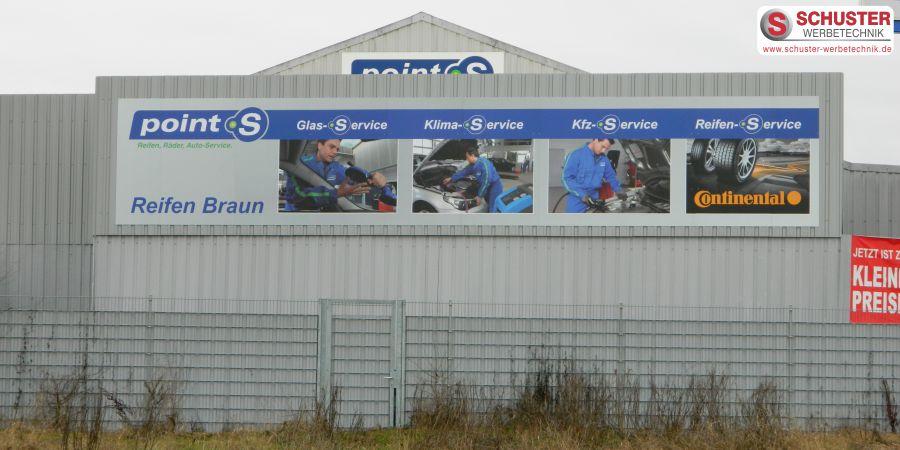 XXL-Digitaldruck - Schild, Werbeschild, Firmenschild bei Reifen Braun in Herzogenaurach